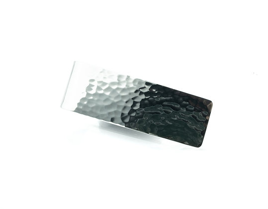 Sterling Silver Classic Money Clip - Hammered Finish