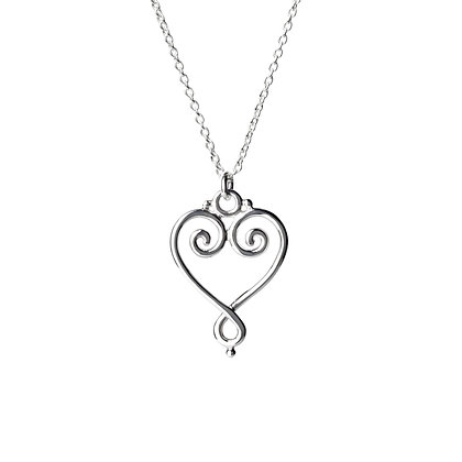 Sterling Silver Heart Pendant - Small