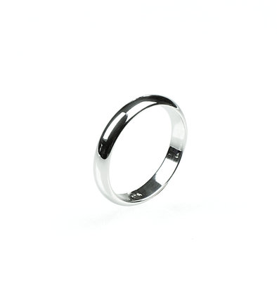 Sterling Silver Band Ring - 3 mm