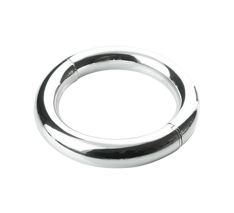 Sterling Silver Tube Bangle - Large