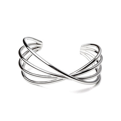 Sterling Silver Twisted Bangle
