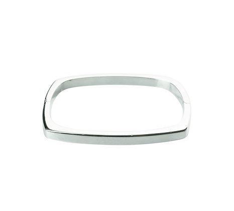 Sterling Silver Hinge Bangle - Cushion