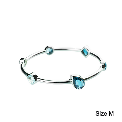 Sterling Silver Blue Topaz Bangle