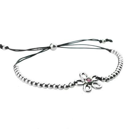 Sterling Silver Ruby Adjustable Bracelet