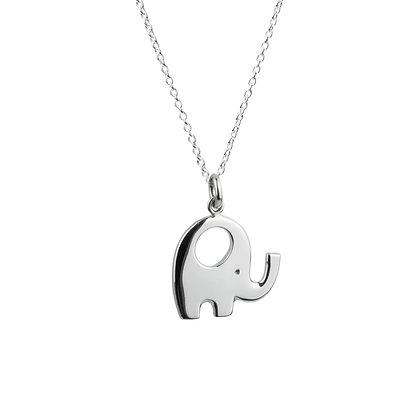 Sterling Silver Elephant Pendant