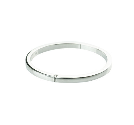 Sterling Silver Hinge Bangle -Round