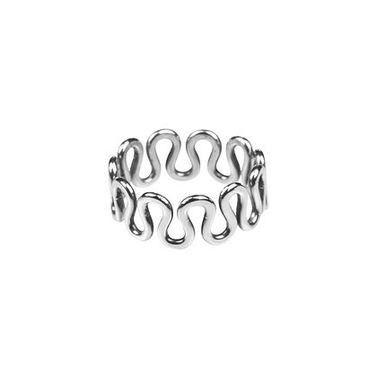 Sterling Silver Wave Ring