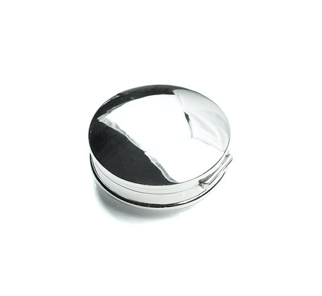 Sterling Silver Round Box - Large