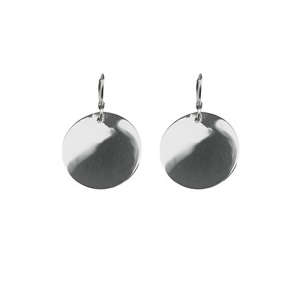 Sterling Silver Round Coin Earrings