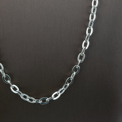 Sterling Silver Flat Oval Cable Chain