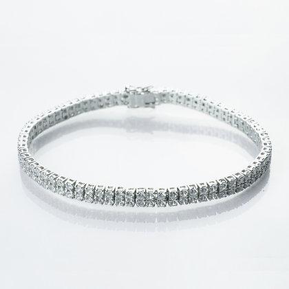 Sterling Silver Diamond Simulant Bracelet