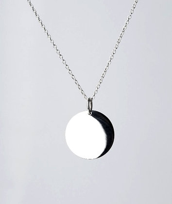 Sterling Silver Round Tag Pendant