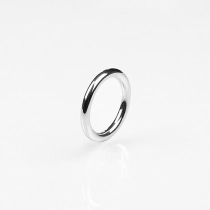 Sterling Silver 3 mm Round Ring