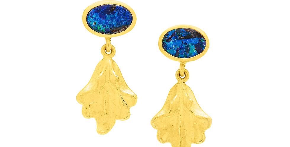 Baroque Petite Daphne Opal Earrings 22K