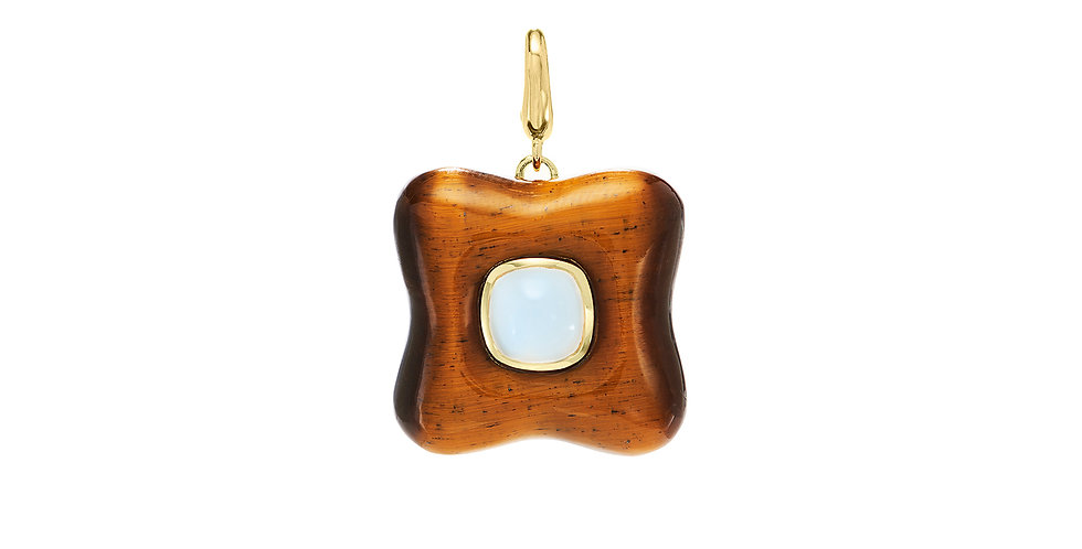 Draper Charm with Tigers Eye and Moonstone