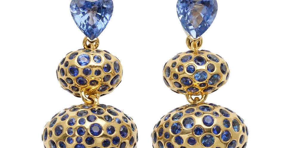 Genie Drop Earrings with Sapphires 18KY
