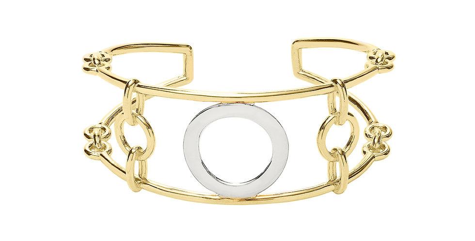 Signature Chain Mixed Gold Cuff 18KMG