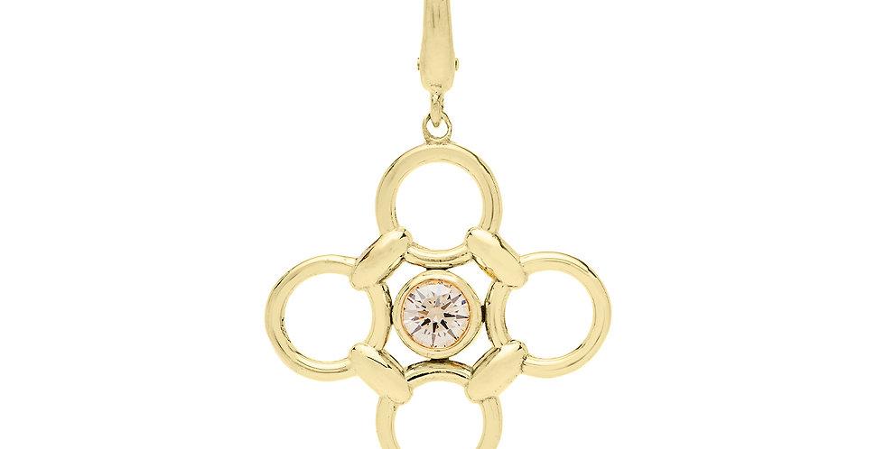 Clover Diamond Charm 18KY