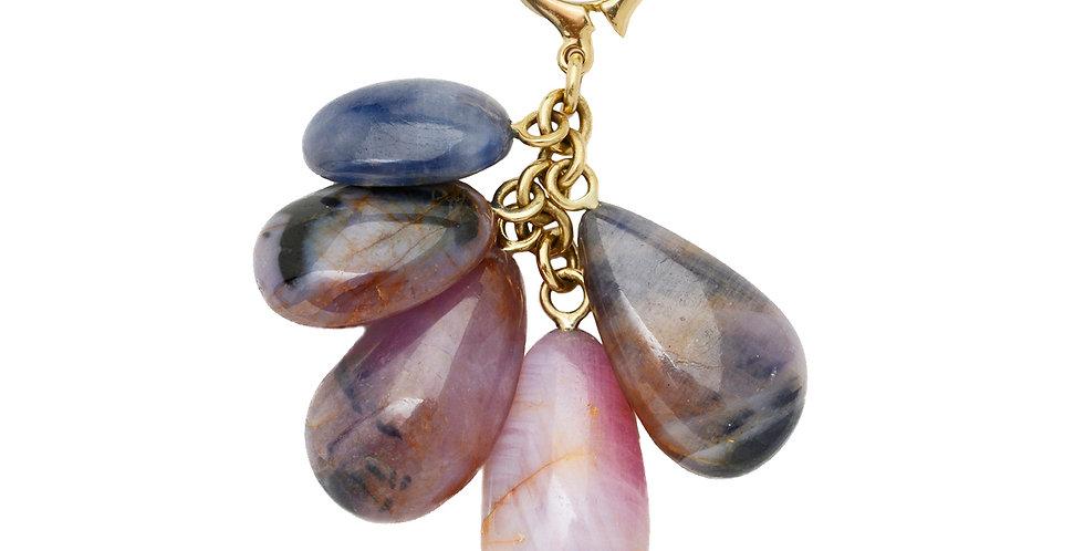 Sapphire Rock Drop Detachable Pendant 18KY