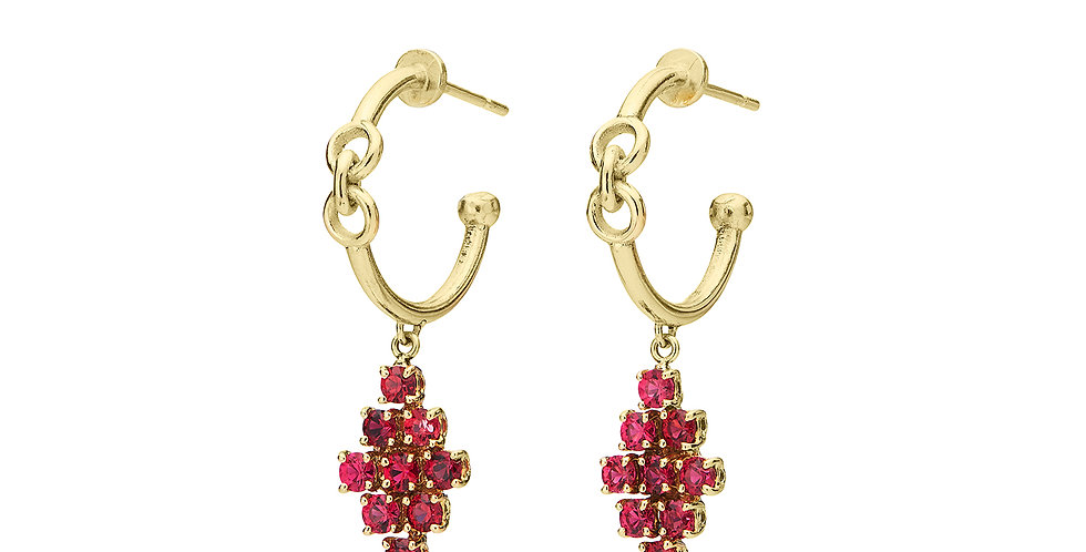 Signature Pixie Hoop Earrings with Spinel 18KY