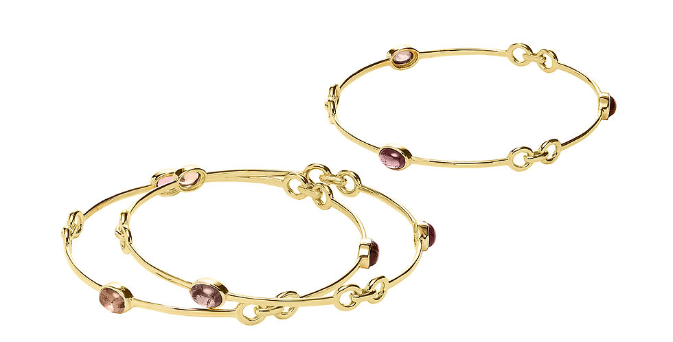 Signature Tourmaline Bangle Peach 18KY