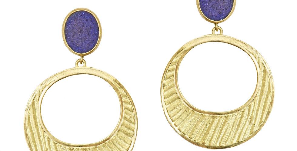 Icon Loulou Majorelle Crescent Earrings 18KY