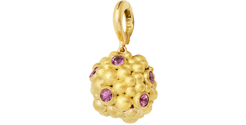Pop Orb with Pink Sapphire Detachable Pendant 18KY