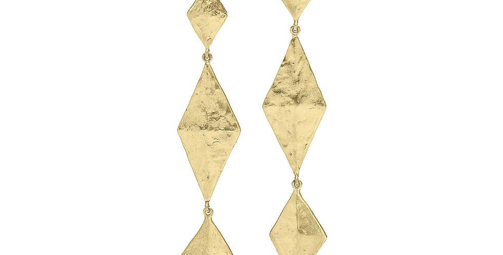 Icon Geo Drop Earrings 18KY