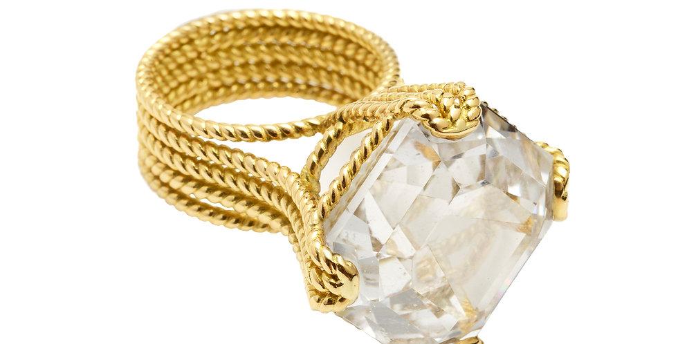Icon Veil Goshanite Rope Ring 18KY