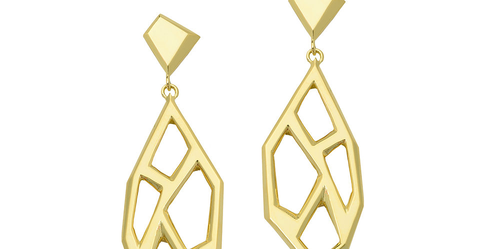 Icon Victoire Drop Earrings 18KY