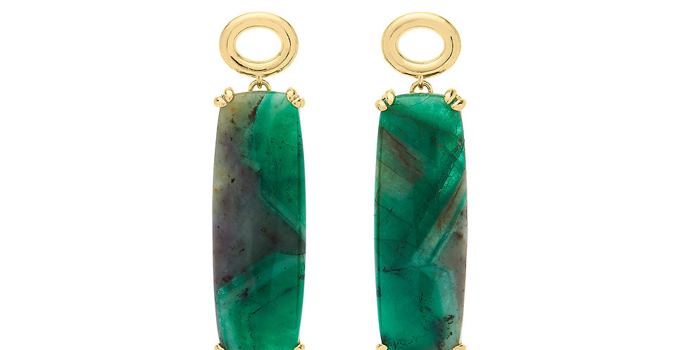Signature Oval Emerald Earrings 18KY