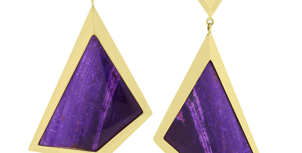 Icon Victoire Sugalite Drop Earrings 18KY
