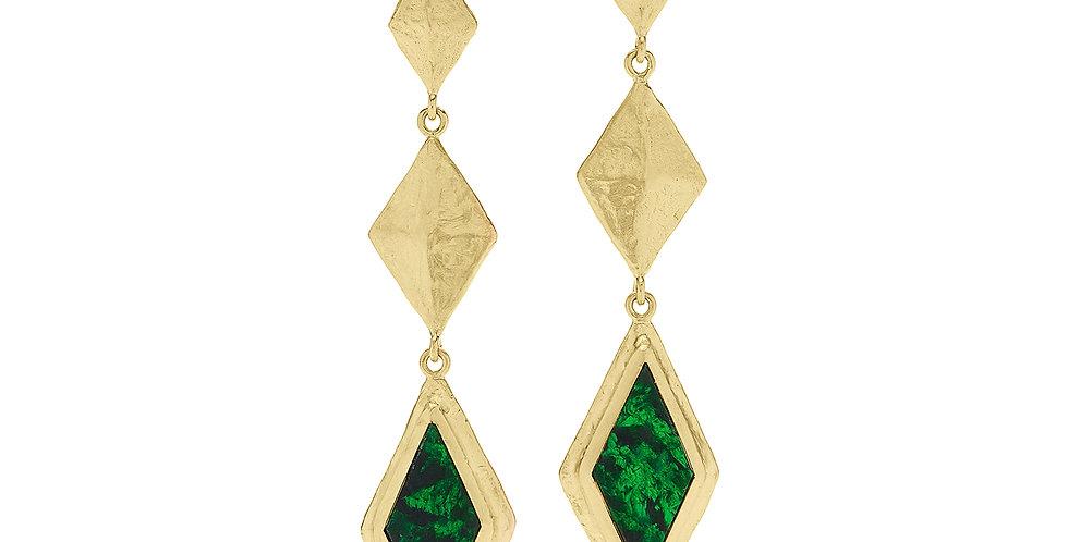 Icon Geo Mawsitsit Drop Earrings 18KY