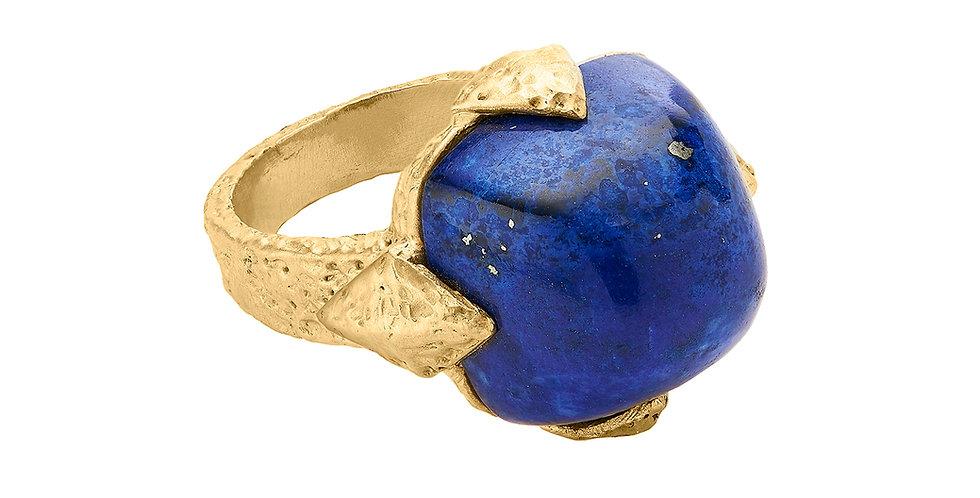Icon Geo Lapis Dome Ring 18KY