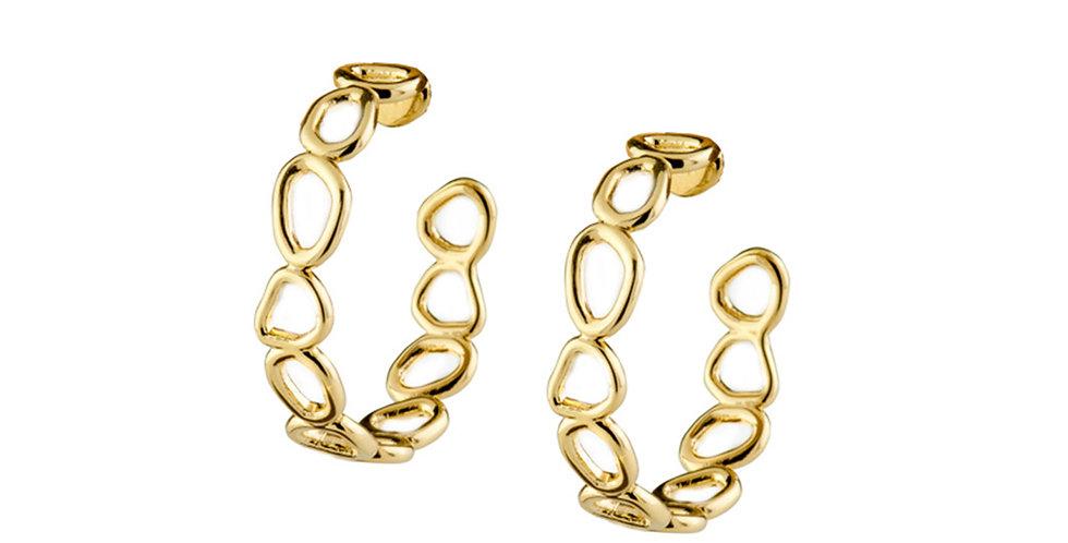 Organic Small Hoop Earrings 18KY