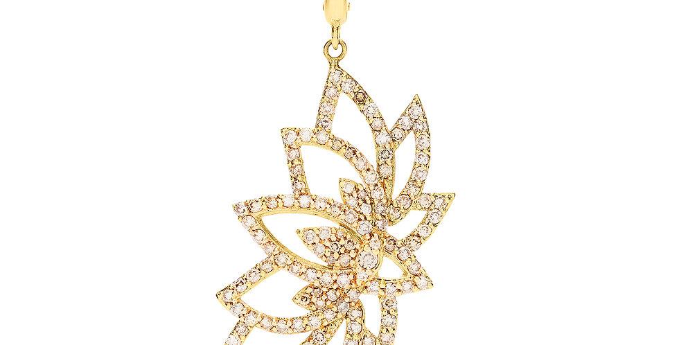 Lotus Diamond Charm 18KY