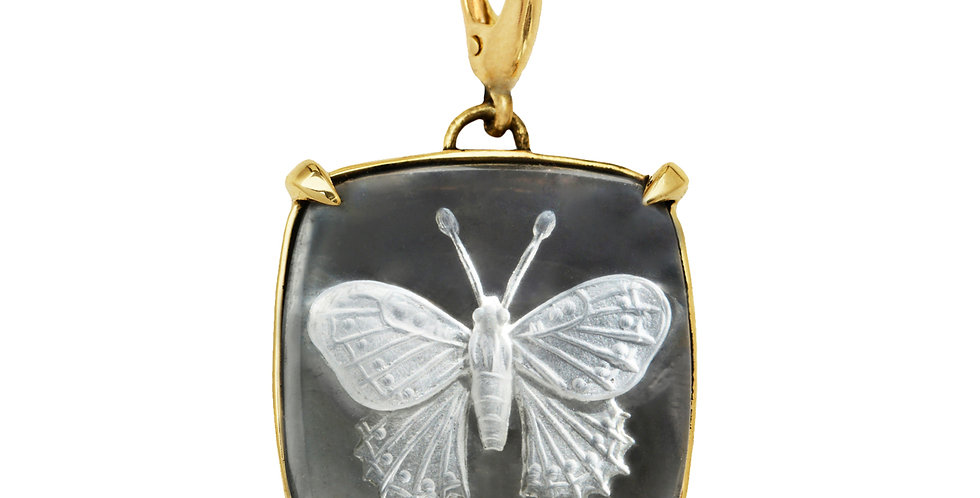 Butterfly Crystal Charm 18KY