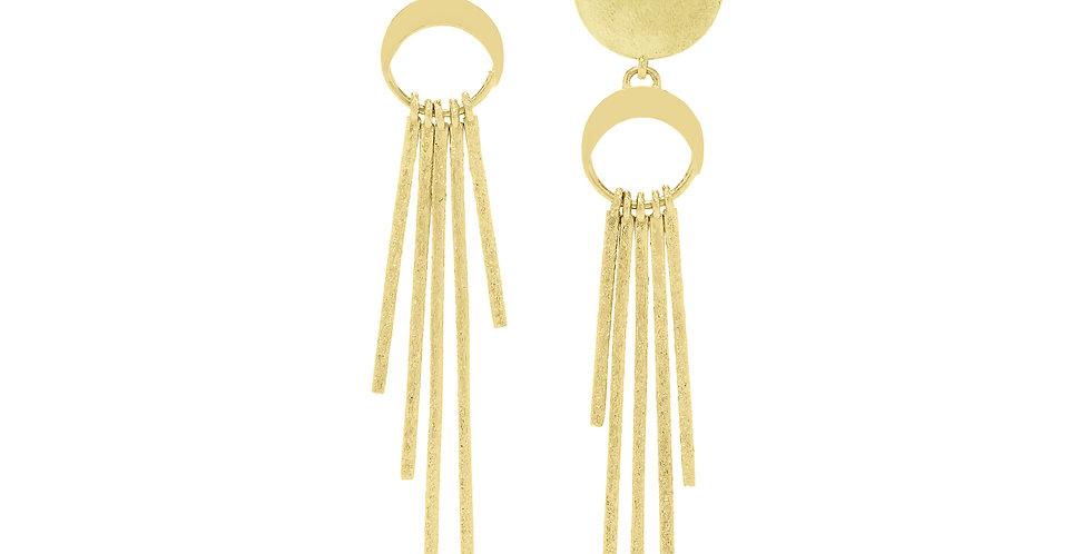 Icon Loulou Glitter Fringe Earrings 18KY