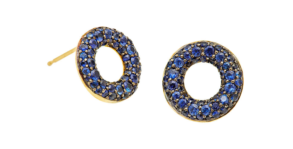 Signature Pixie Stoned Sapphire Earrings 18KY