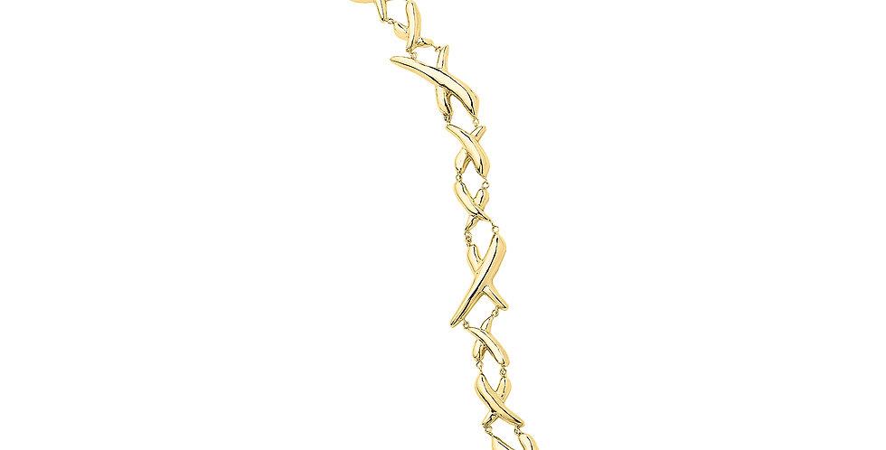 Icon Horn Link Bracelet 18KY