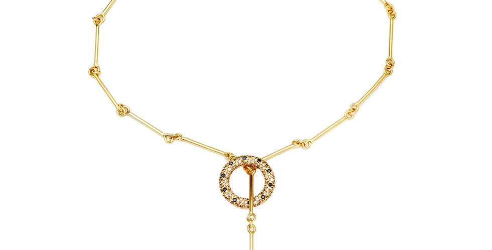 Signature Chain Diamond Lariat 18KY