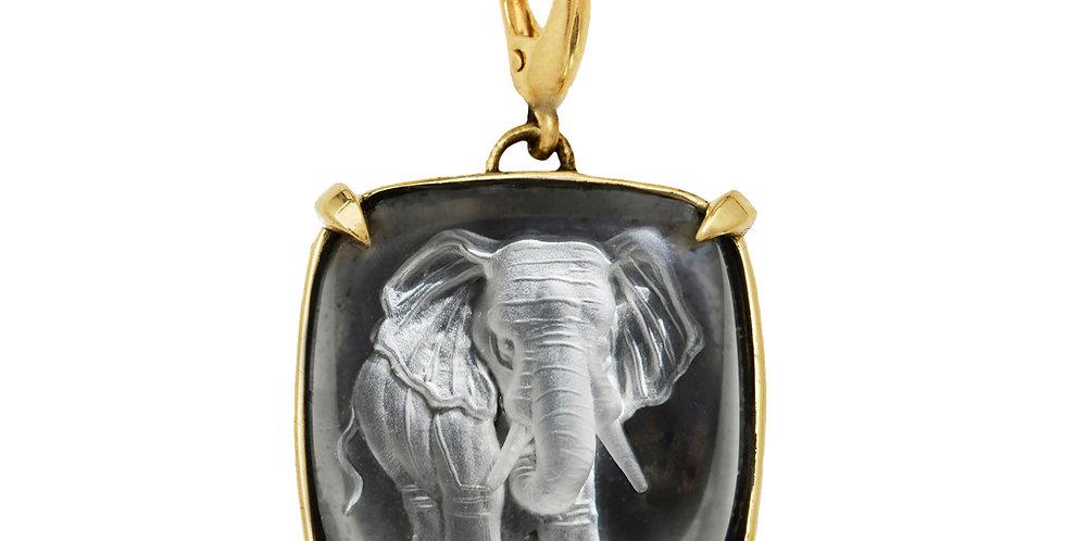 Elephant Crystal Charm 18KY