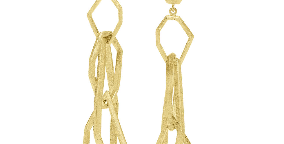 Icon Victoire Puzzle  Drop Earrings 18KY