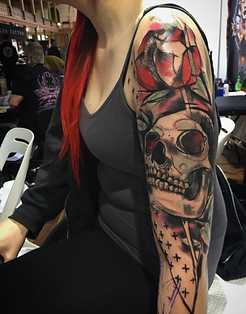 modern tattoo, skull tattoo, girls with tattoos, melbourne tattooist