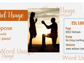 WordUsage Propose