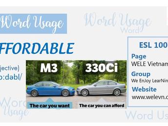 WordUsage Affordable