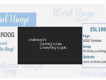 WordUsage Underdog
