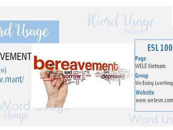 WordUsage Bereavement