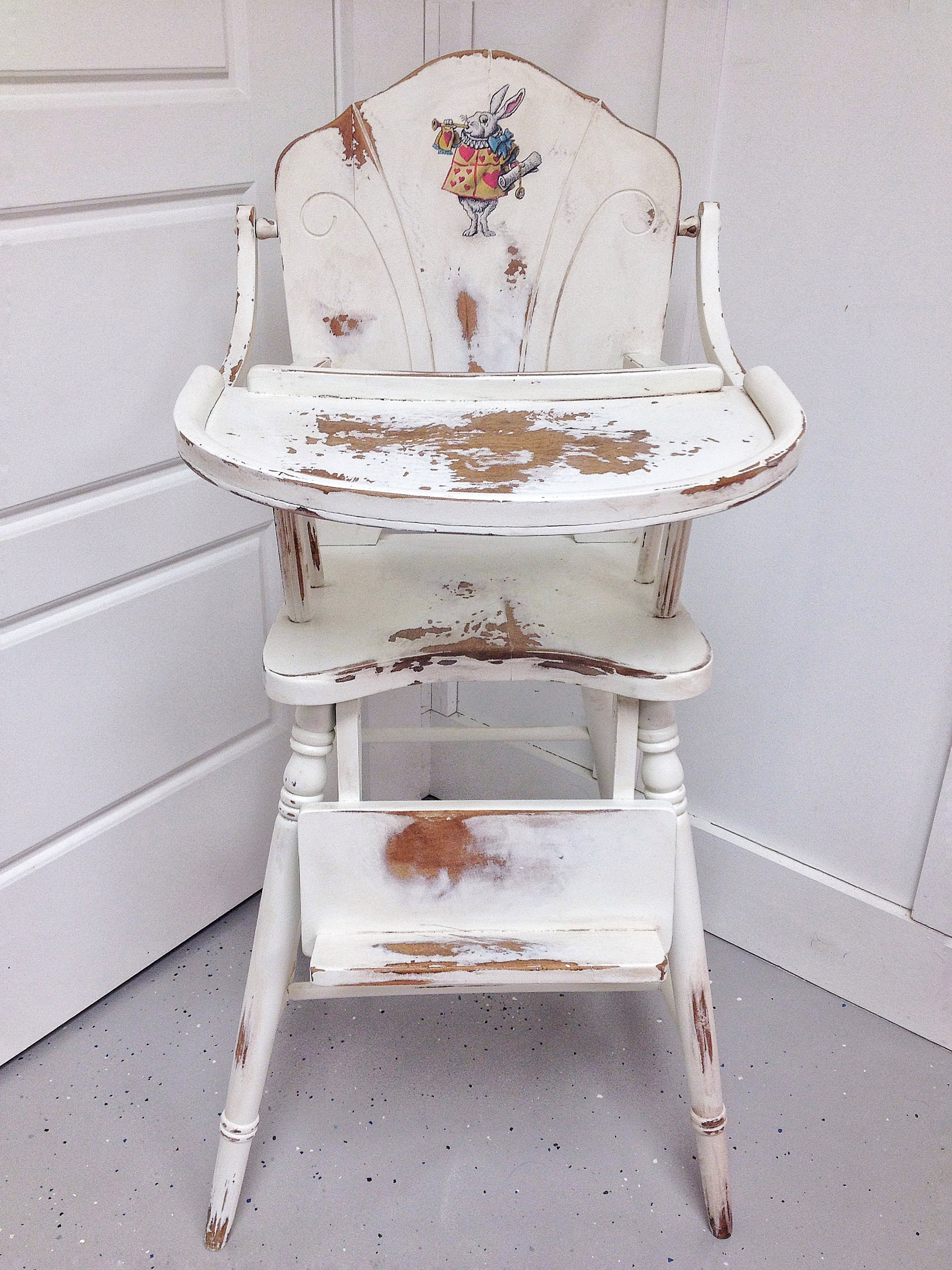Refurbished heirloom high chair