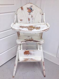 Refurbished heirloom high chair
